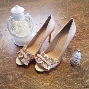 Enzo Angiolini Cream Heels, Size 9